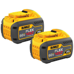 2 Pack of 20V/60V Max Flexvolt 9.0Ah Battery