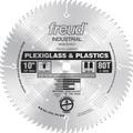 "10"" 80 Tooth Full Kerf MTCG Plexiglass & Plastics Blade"