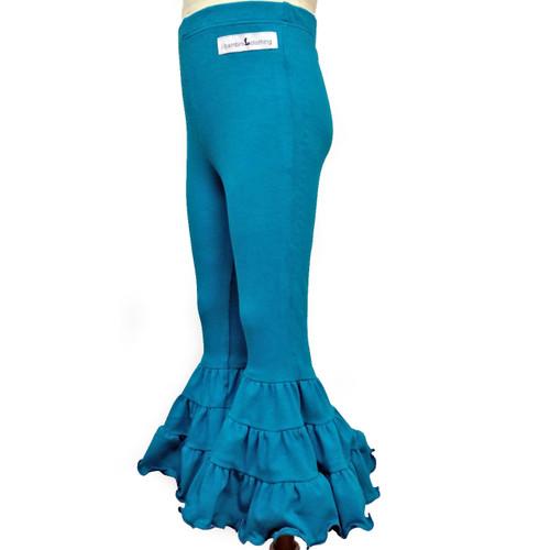 made in usa mermaid leggings in jade teal