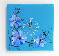 Blossoms Clock (blue)