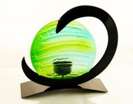 Neutron Tealight Candle Holder (Green)