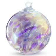 "Witch Ball ""Lavender Lilly"" Iridized"