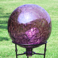 "Glass Gazing Ball ""Violet Blue"" 12 Inch"