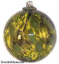 Lime, Yellow & Olive 4 Inch Kugel (Camouflage)