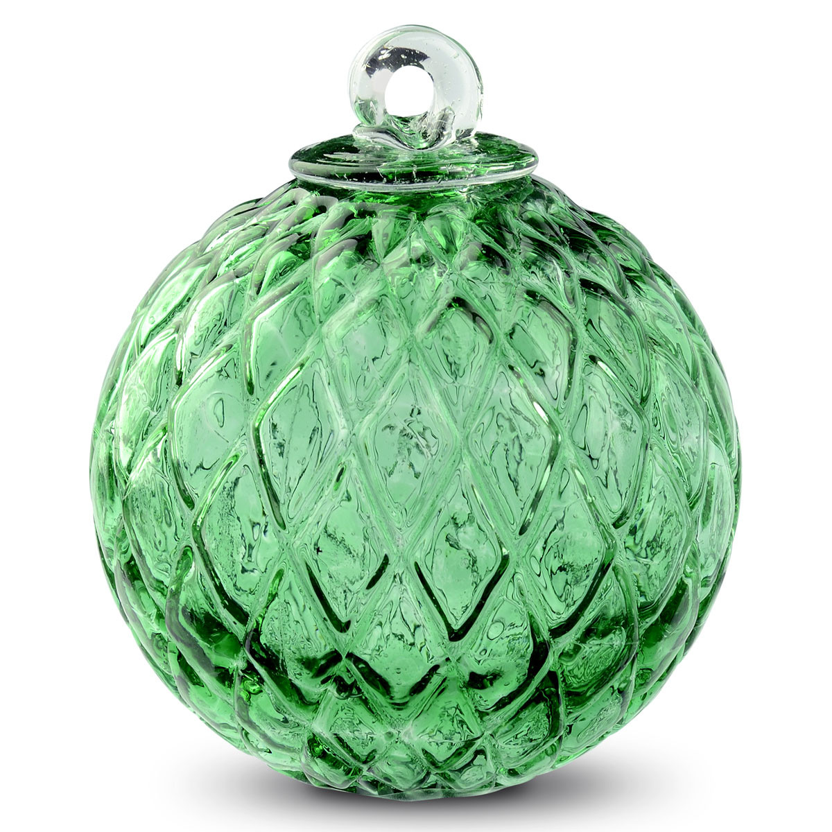 Friendship ball ornament - Diamond Optic Friendship Ball Moss Green 4 Inch