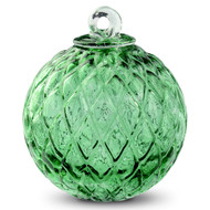 Diamond Optic Friendship Ball, Moss Green (4 inch)