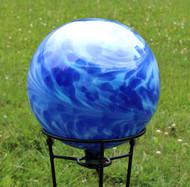 Montana Blue / Water Blue Over Opal Gazing Ball
