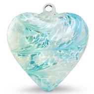 """Large Heart """"Turquoise"""" Iridized"""