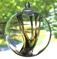 Enigmatic Witch Ball Iridescent Serenity Colors