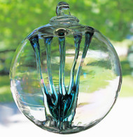 Enigmatic Witch Ball Iridescent Marine Colors
