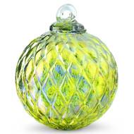 Diamond Optic Friendship Ball, Kind of Blue / Kind of Green Iridized (4 inch)
