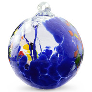 "Witch Ball ""Circus Blue"""