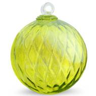 Diamond Optic Friendship Ball, Lemon Yellow Iridized (6 inch)