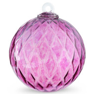 Diamond Optic Friendship Ball, Wine Red Iridized (6 inch)