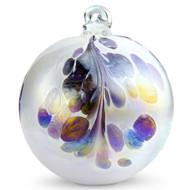 Crested Kugel Violet / White Iridized