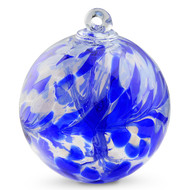"Witch Ball ""Delft Blue"""