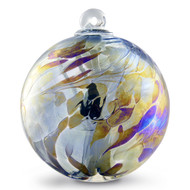 "Witch Ball ""Tat Black"" Iridized"