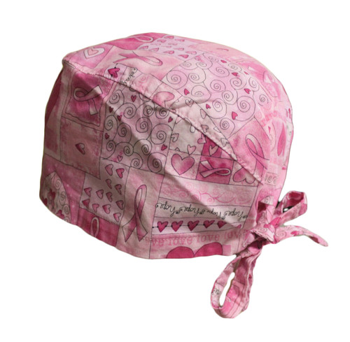 Pink Cotton Scrub Cap