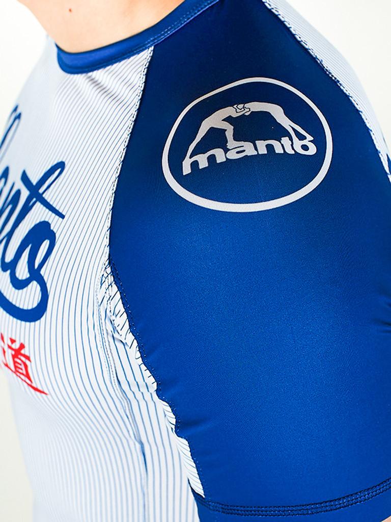 "MANTO ""TOKYO"" RASH GUARD White/Blue"