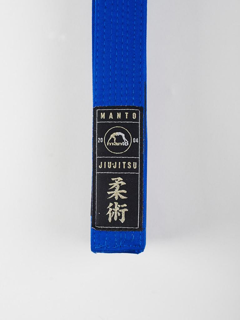 "MANTO ""ARTE SUAVE"" PREMIUM BELT Blue for Jiu-Jitsu"