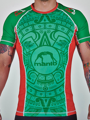 "MANTO ""AZTEC"" RASH GUARD Green"