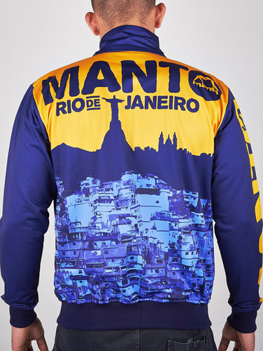 """MANTO """"RIO"""" TRACK JACKET Navy/Yellow"""