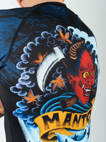 "MANTO ""PERFECT STORM"" RASHGUARD Black"