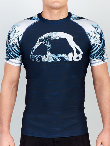 "MANTO ""WAVES"" RASHGUARD v2 Short Slv"