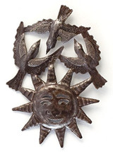 bright summer days, sun and birds, Haiti Metal Art
