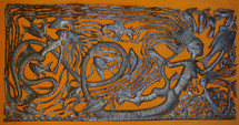 Haitian metal fine artwork, large mermaid display