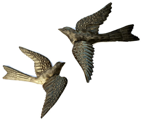Haiti Metal Birds with 3-D wings