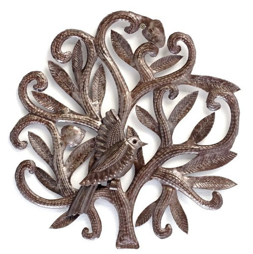 Mini Nesting bird for indoor or outdoor Haiti metal art