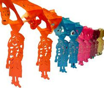 Papel Picado Skeletons