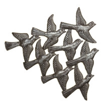 Recycled Metal Art, It's Cactus, Flock of Birds