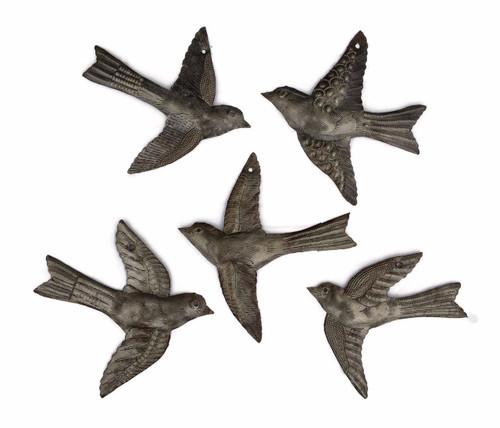 Set of 5 Flying Birds