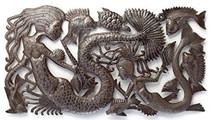 Mermaid Family Metal Wall Art Haiti