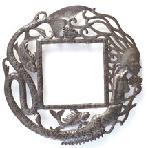 Mermaid Wall Frame, Haitian Metal Art