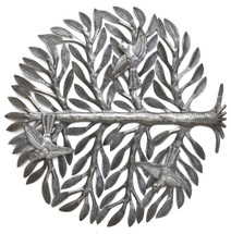 "Family Tree of Life Haiti Metal Art 15"" x 15"""