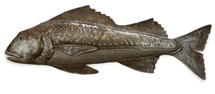 "Fish Swimming Upstream, Haitian Metal Fair Trade Wall Art Beach Decor 22"" x 9"""