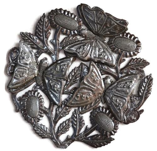 Haiti Metal Butterfly art