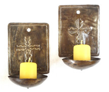 wall candle holder with cross, Haiti