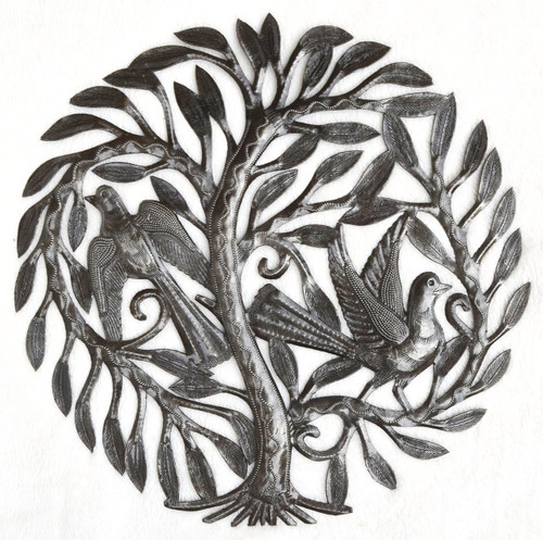 tree of life Haiti metal art, leaving the nest, it's cactus