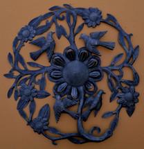 "Ring of Daisies Haitian Metal Floral Sculpture 23"" x 23"""