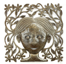Garden in My Mind - Wall Sculpture Decor, Haiti Metal Art