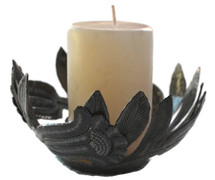 metal candle holder handmade in Haiti