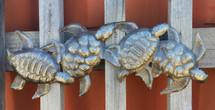 Turtles, haiti metal art, ocean theme turtles, small turtles,