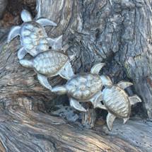 "Sea Turtle Haitian Metal Art SM503   6"" x 17"""