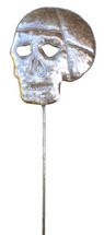 "Skull Garden Stake   Day of the Dead  SM516      7"" x 32"""