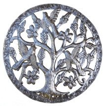 Small Garden Tree Handmade in Haiti from recycled oil drums metal art
