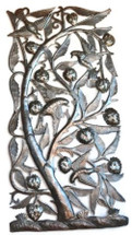 Tree of Life -  Rectangle - Fruit and Birds Haiti Metal Art